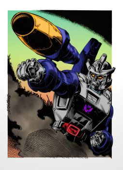 Colours on Stephen Baskerville's Galvatron by hellbat