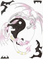 :.Ying Yang Dragons.: by Demonic-Haze