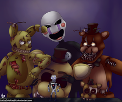 Five Frightening Faces by LuckyGoldRabbit