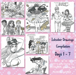 INKTOBER 2017 Compilation [Day 1-7] by Avriia