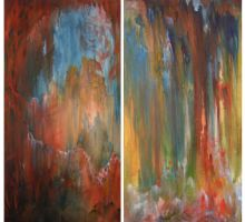 Forest Diptych by GiannaPergamo