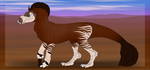Red Siam Roan Over Wash Okapi By Dragon149-dcfbiks by ReapersSpeciesHub