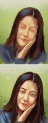 Just like your gentleness (drawing process) by ilovepumpkin2014