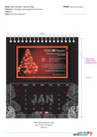 HSBC Desk Calendar Propose 1 by phyoeminthaw
