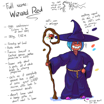 [Character Ref] Wizard Red by Semi-Stick