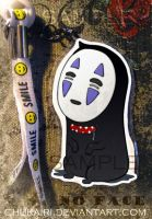 No Face- Keychain by Morigalaxy