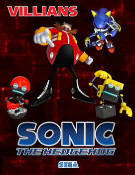 Sonic The Hedgehog Villians Poster by Spartan-640