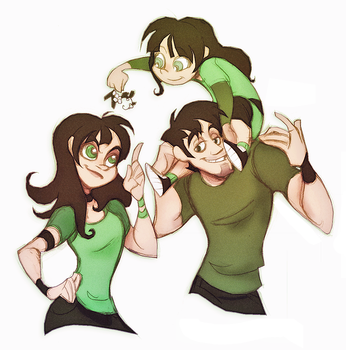 PPG-HAPPYGREENSFAMBLY by Busterella