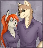 N.S.D. and Tera by fearlarsen