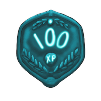 100 XP Plaque by ReapersSpeciesHub