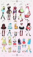 Cute Outfit batch 1 OPEN (2/16) by Toki-Doki-Adoptables