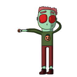 Little Zombo is here... again... (Improved - A-B) by LittleDrawerMX