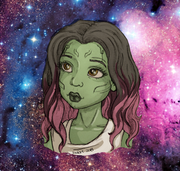 Young Gamora by JadeDragonne