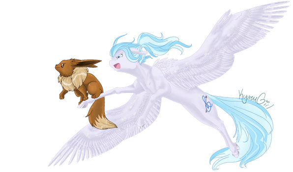[Commission] Sky Battle by KyuremGirl