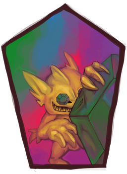 Pokemon Icon Commission #6: Shiny Mega Sableye by toshema