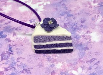 Purple Cake Necklace by SolarCrush