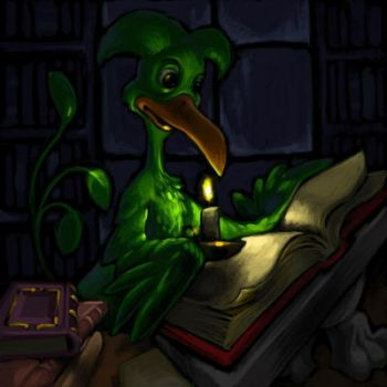 Midnight in the Lenny Library by ickessler
