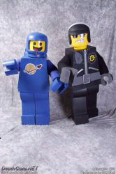 Lego Movie Benny Cosplay and Bad Cop by koisnake