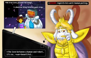 Oh! True Love... Made Asgore Cry by SonicRose