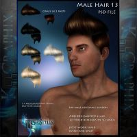 Male Hair 13 Painted Instant hair PSD add on stock by MakeMeMagical