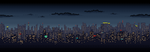 Scrolling City Skyline by lenstu82