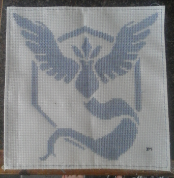 Team Mystic Cross-Stitch by GormKitty