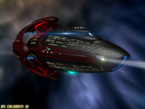 Doctor Who Spaceship:The Tharasymachus by calamitySi