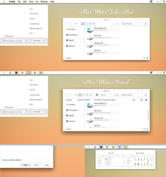 Mac White Theme for win 8/8.1 by Cleodesktop