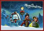 Christmas Carolers Unite by clelanjh