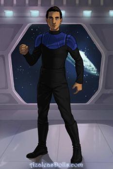Chris Patel (Star Trek Deep Space Nine OC) by suburbantimewaster
