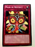 Yu-Gi-Oh! Altered Art - Mask of Restrict/Majora by KH-XIII
