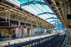 Train station in Japan by Rikitza