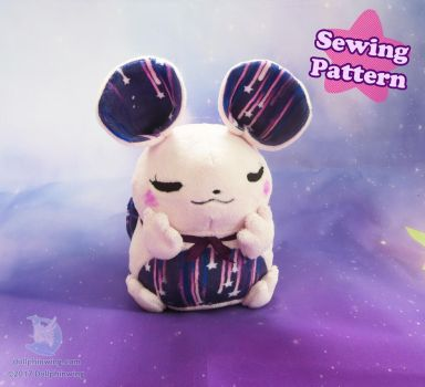 Chubby Mouse Plush Sewing Pattern by dollphinwing