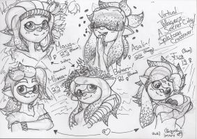 A Splatoon / Virtual Villagers Crossover~ by Pixelboid