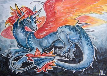 Fire [aceo] by DragonisLera