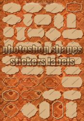 40 forms and shapes sticker labels Lyotta by Lyotta