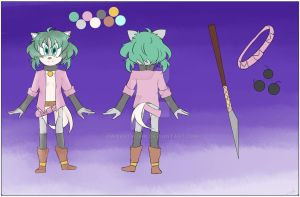 .:Tia the hedgecat reference + bio:. by DWAartwork