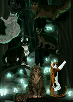 The Dark Forest Gang by dottedeskimo