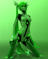 [Keyshot 5] Carbon Green Miku by Redoxygene