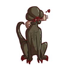 Stranger Things - Demodog sticker design by Art-By-Ethera