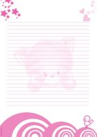 kawaii paper letter 1 by IdeandoGrafica