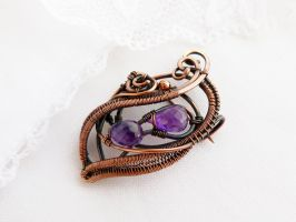 Brooch Grapes by UrsulaJewelry