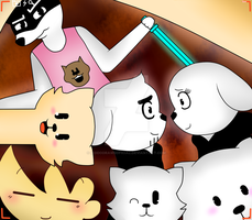 Undertale Dogs! + SPEEDPAINT :3 by KiddoDrawsOficial