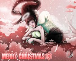 Merry Christmas Snow Angel by RebeccaDell