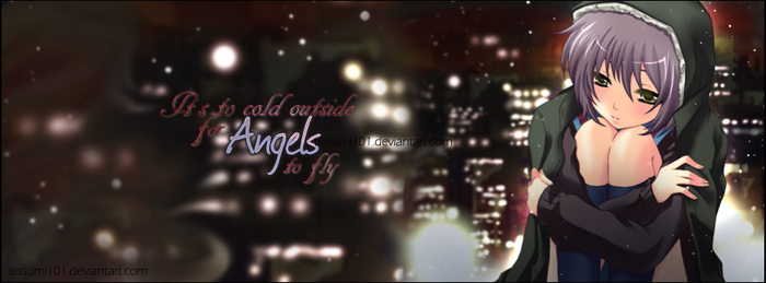 Angels to fly facebook cover image by tetsumi101