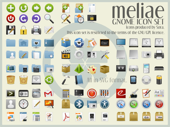 Meliae SVG Icon Theme v. 1.2 by sora-meliae