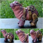 Steampunk Hippopotamus by MysticReflections