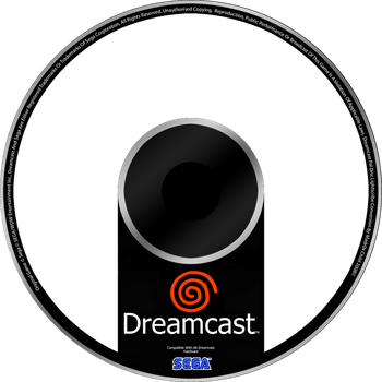 Sega Dreamcast Custom Disc Template by Diego9000