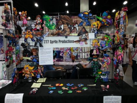 Anime Expo 2013 Set up by VIITheGambler