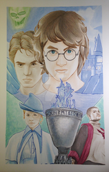 Harry Potter Movie Poster by nitasofflames